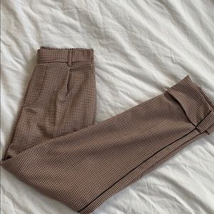 Bershka checkered trousers